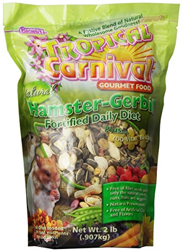 F.M. Brown's Tropical Carnival Natural Hamster-Gerbil Food, Vitamin-Nutrient Fortified Daily Diet, NO Filler Seeds, NO Artificial Colors or Flavors, 2lb 51n9wEIg7cL