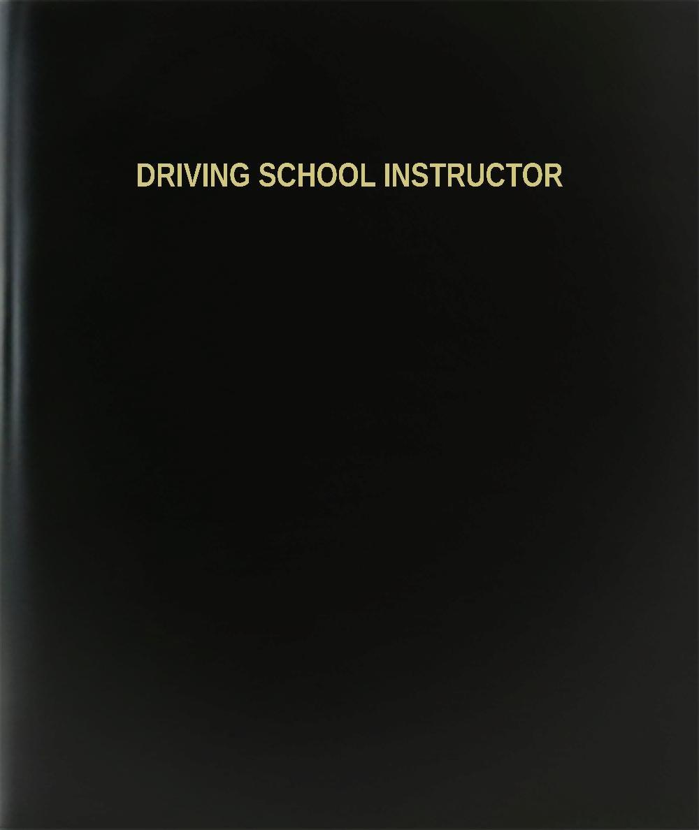 BookFactory Driving School Instructor Log Book / Journal / Logbook - 120 Page, 8.5''x11'', Black Hardbound (XLog-120-7CS-A-L-Black(Driving School Instructor Log Book)) by BookFactory (Image #1)