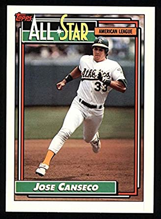 Amazoncom 1992 Topps 401 All Star Jose Canseco Oakland