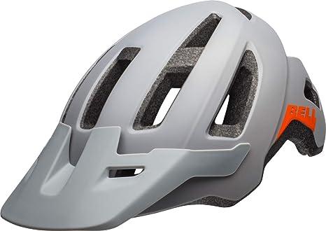 BELL Nomad Casco para Bicicleta de montaña, Gris Mate y Naranja ...