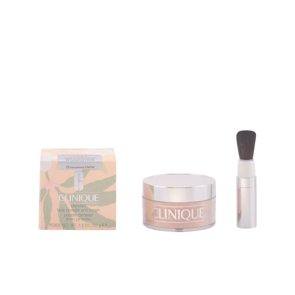 Clinique Blended Face Powder and Brush, Shade 03, 1.2 Ounce