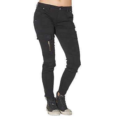 Amazon.com: Silver Jeans Women's Skinny Cargo Pants (Black,24 ...