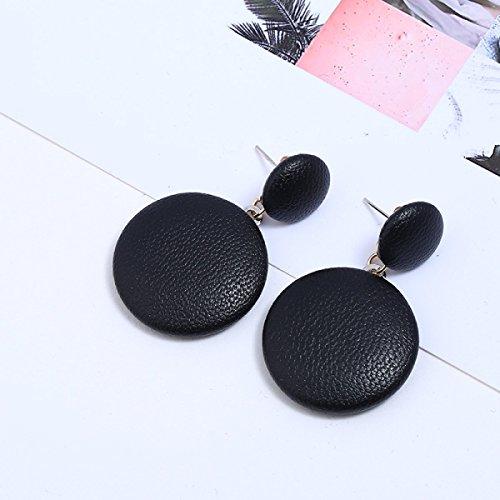 7 Woman Earrings Black Personality 4 Retro 2 Minimalistic Cortex 2cm Temperament Long WKAIJCJ EzZWfFqTq