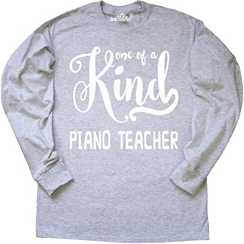 - inktastic - Gift for Piano Teacher | Long Sleeve T-Shirt Medium Ash Grey 2606c