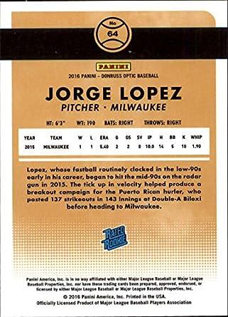 Amazon.com: 2016 Donruss Optic Holo Refractor #64 Jorge ...