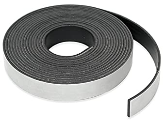 "Roll-N-Cut Flexible Magnet Tape Refill - 1/16"" thick x 1/2"" wide x 15 feet. (1 roll)"