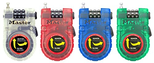 Master Lock Cable Lock, Set Your Own Combination Bike Lock, 3 ft. Long, Assorted Colors, 4605D by Master Lock (Image #4)