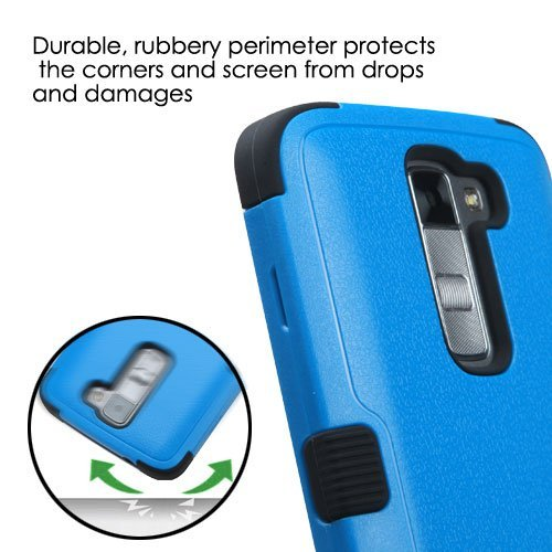 quality design 31a50 8fb37 LG TREASURE Tracfone Case [MODEL: L51AL & L52VL] - [Shock Absorption] [Drop  Protection] [Hybrid Hard&Soft Armor] Rugged Impact Phone Tuff Skin Cover +  ...