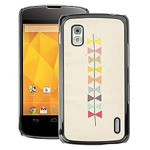 A-type Arte & diseño plástico duro Fundas Cover Cubre Hard Case Cover para LG Nexus 4 E960 (Bowtie Pattern Beige Art)
