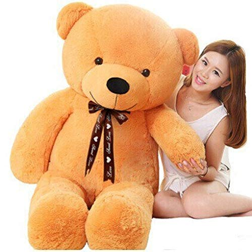 Egyptian Giant Teddy Bear Kawaii Big 60cm 80cm 100cm 120cm Stuffed Soft Plush Toy Large Embrace Bear Chrildren Kids Doll Birthday Gift for Girlfriend Pink Brown (Light Yellow, 80CM) for $<!--$39.99-->