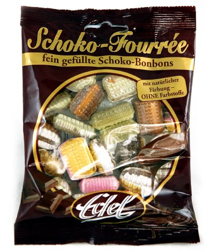 Edel Chocolate Fourrée (2 x 125g) - Chocolate hard candies with chocolate filling