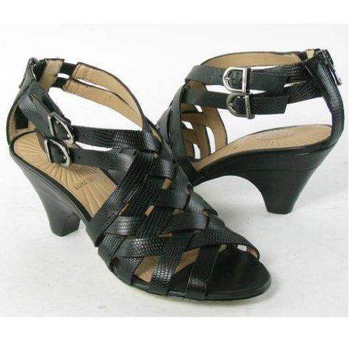 Circa Joan & David Women's Marvita Sandal,Black Reptile,10 M US