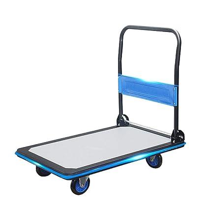 a46e5a8417c3 Amazon.com : YAXuan Hand Truck, Ultra-Quiet Flatbed Folding Cart ...