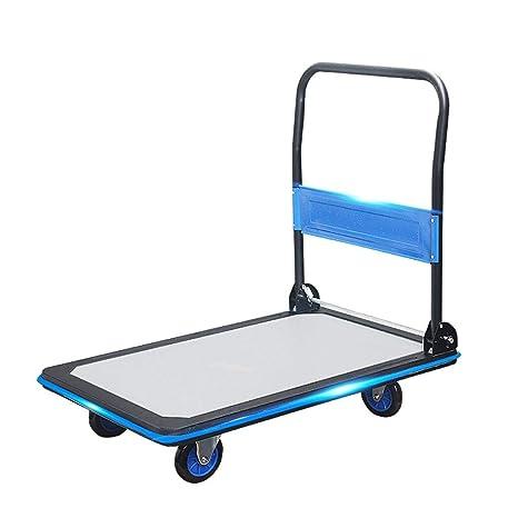 WYX Carro de Mano, Ultra-silencioso Flatbed Plegable Carro Carrito Carro logística almacén Herramienta