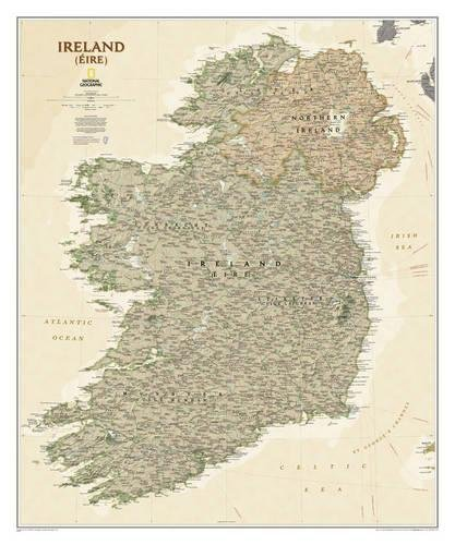 National Geographic: Ireland Executive Wall Map (30 x 36 inches) (National Geographic Reference...