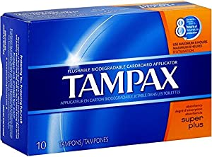 Tampax Biodegradable Applicator Tampons, Super Plus