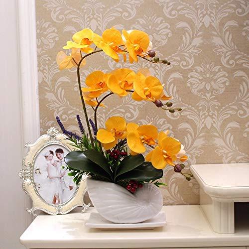 LOF-fei Orquídea Phalaenopsis Artificial Flores de plástico ...