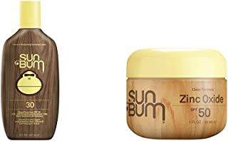 product image for Sun Bum Original Sunscreen Lotion, SPF 30 and Sun Bum Clear Zinc Oxide Lotion, SPF 50
