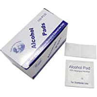 MQFORU Alcohol Prep Pads Wipe Antibacterial Tool Cleanser Medical Swab 100Pcs