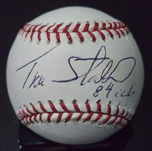 Tim Stoddard 84 Cubs Autographed Signed Rawlings Official Major League Baseball Baseball - Certified Authentic