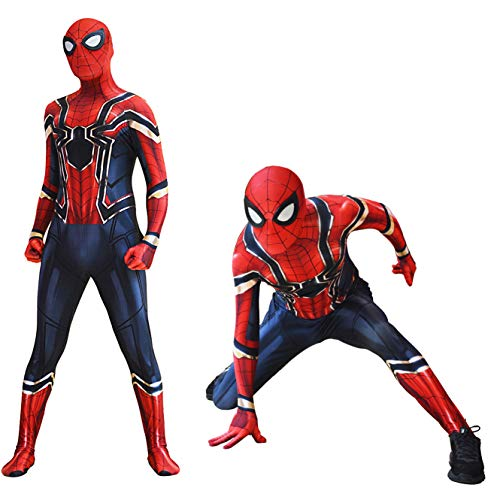 Outdoor Home Iron Spider Costume Kids Infinity War Costumes Boys Scarlet Spiderman Replica -