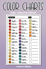 Organize and categorize your art supplies! Keep track of all your colors in one place with 50 single-sided color charts! Perfect for users of colored pencils, artist markers, gel pens, crayons and much more! Enough space to record 2,250 diffe...