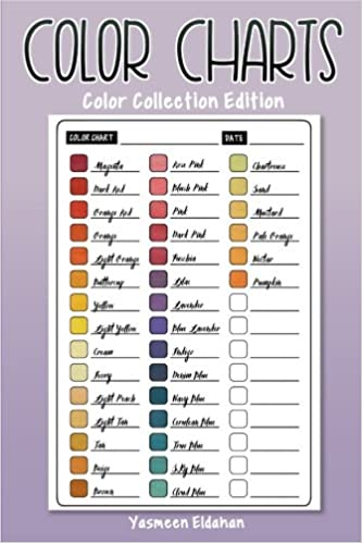 color charts color collection edition 50 color charts to record