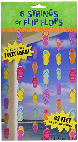 Amscan Flip Flop Party String Decorating Kit (Flop Flip Decorations)