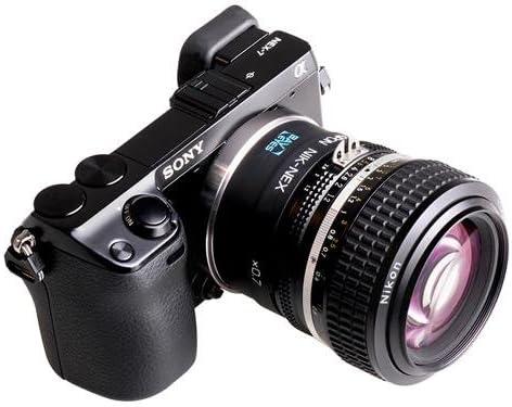 Kipon Baveyes 0.7X Optical Focal Reducer Lens Adapter for Nikon F Mount Lens to Sony E-Mount Camera