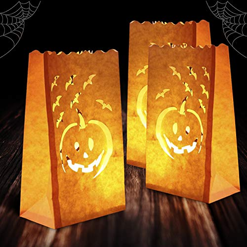 Homemory Small Pumpkin Lights, Battery Operated LED Tealight Candles