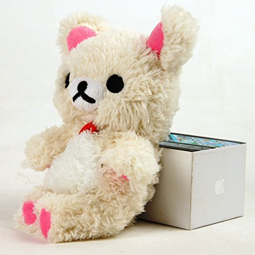 Inspirationc® Soft Cotton White 3D Cute Design Toy Bear Case Cover for iphone 5/5s