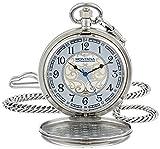 Montana Silversmiths WCHP41-447S Montana Time Analog Display Quartz Pocket Watch