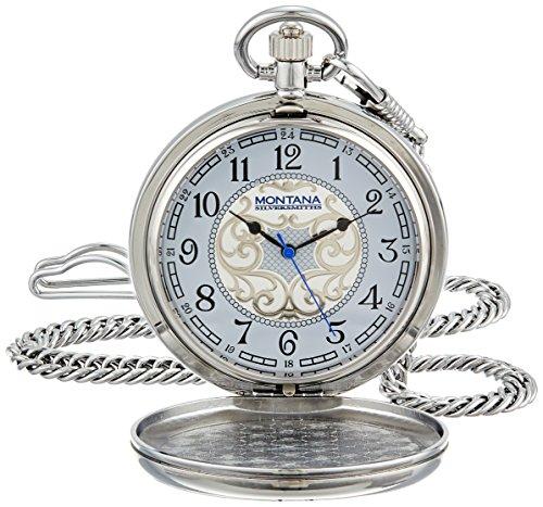 Montana Silversmiths WCHP41-447S Montana Time Analog Display Quartz Pocket Watch by Montana Silversmiths (Image #3)