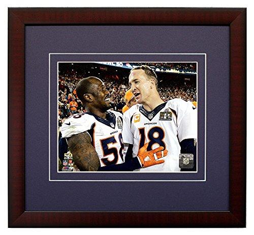 The Denver Broncos Peyton Manning & Von Miller During Super Bowl 50, 8x10 Framed Photograph Picture
