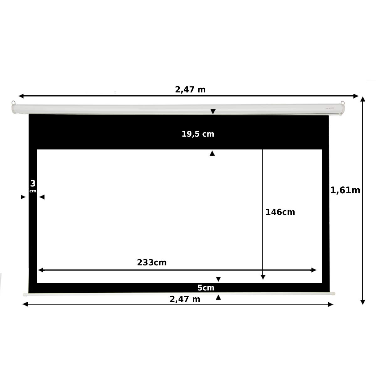 Pantalla de proyeccion Manual Luxscreen 109