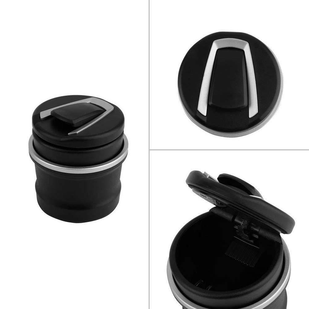 Ogquaton Cendrier de Voiture avec cendrier Multifonction de lumi/ère LED pour Accessoires de Voiture BMW d/édi/és Noir 1 Pcs
