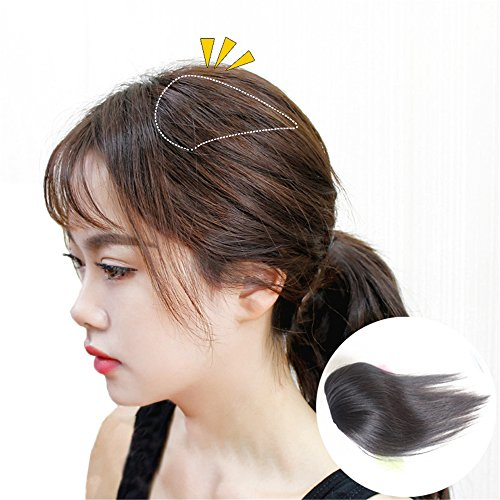 "Susanki 2 Clips in Human Hair Top Crown Closure for Thinning Hair 10"" Women"