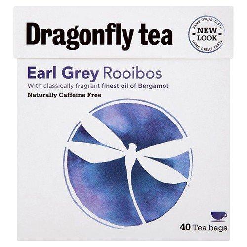 (2 Pack) - Dragonfly Tea - Earl Grey Rooibos Tea | 40 Bag | 2 PACK BUNDLE ()