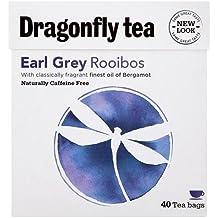 (10 PACK) - Dragonfly Tea - Earl Grey Rooibos Tea | 40 Bag | 10 PACK BUNDLE