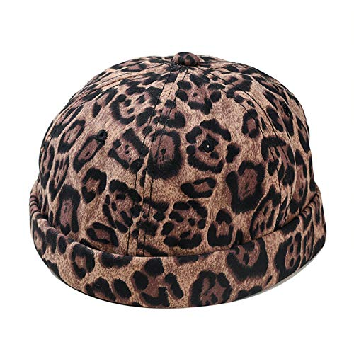 ANDERDM Cotton Berets for Women Camel Leopard Artistic Hats Ladies Ajustable Elegant Painters Cap Print Autumn Berets