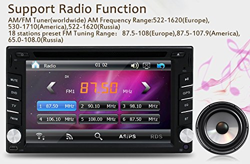 New Version ! 800MHZ CPU !!! GPS Navigation Car Radio 6.2 Inch Car DVD Player Touch Screen Stereo Bluetooth Autoradio In Dash Headunit Car Video Player by EinCar (Image #5)