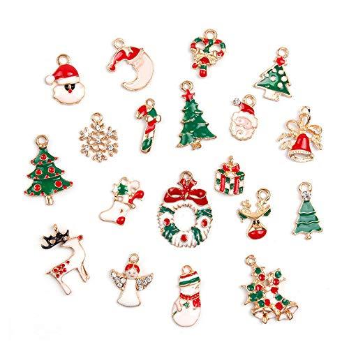 China Ornament Snowflake (Pendant Drop Ornaments - 19pcs Metal Alloy Mixed Christmas Charms Tree Deer Santa Snowman Set Diy Jewellery Pendants - Star China Acrylic Christmas Santa Xmas Wood Pinecone Funny Toy)