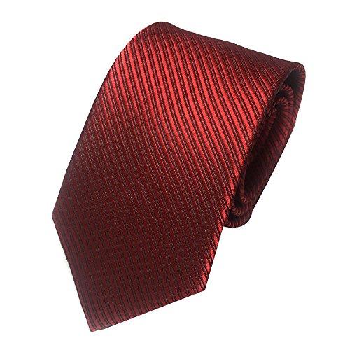 Unisex Novelty Men's Striped Plaid Dress Hand Tie Classic Jacquard Woven Necktie Tie Party Wedding Formal Business Tie (Wine)
