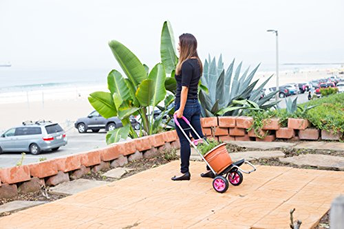 Mighty Max Personal Dolly, Pink Handtruck Hardware Garden Utilty Cart by dbest products (Image #4)