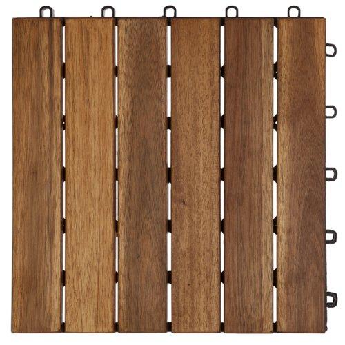 Garden Winds DT01-YW Six Slat Deck Tiles, Classic, 10 Count