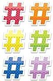 "Creative Teaching Press Painted Palette #hashtags 6"" Designer Cut-Outs (6501)"