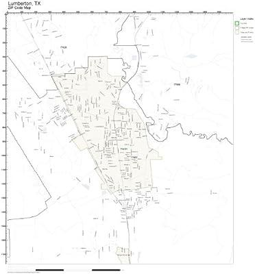 Amazon.com: ZIP Code Wall Map of Lumberton, TX ZIP Code Map ...