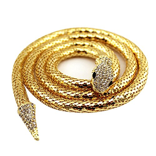 Edith qi Queen Bendable Snake Necklace Choker Bracelet Twistable Waistband Belt for Party for $<!--$9.99-->