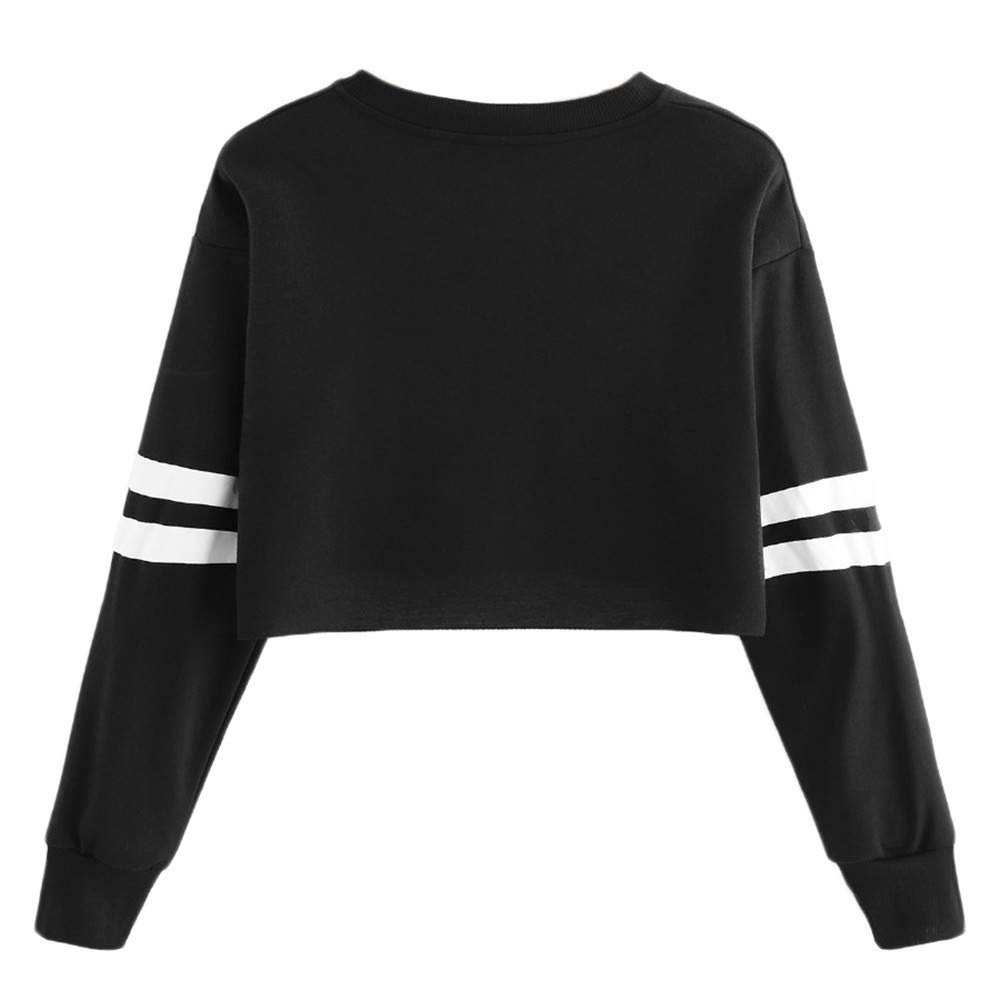 Amazon.com: Gessppo Women Long Sleeve Sweatshirt Pullover Letter Patchwork Round Neck Blouse: Clothing