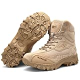ENLEN&BENNA Army Boots for Men Military Boots Combat Boots Jungle Boots Tactical Boots Composite Toe Side Zipper